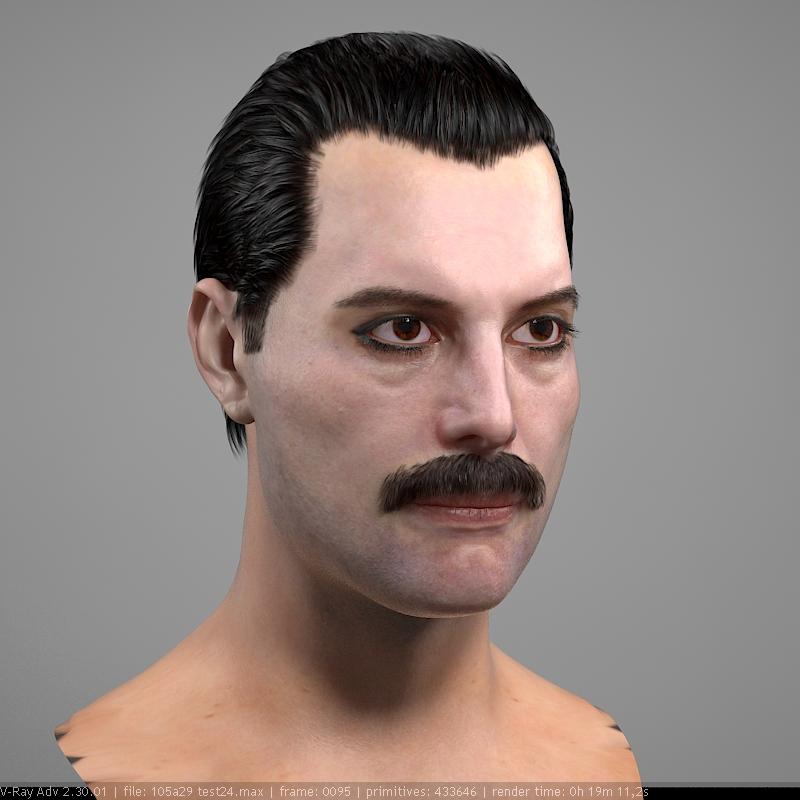 3d art the 3d model of freddie mercury singer head