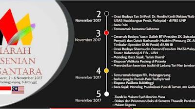 Ziarah Kesenian Nusantara 2017 Sumatra Barat, Harmonisnya Indonesia-Malaysia
