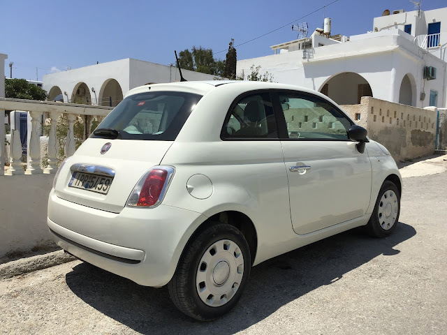 Fiat 500 is a popular Greek choice for an economy vehicle