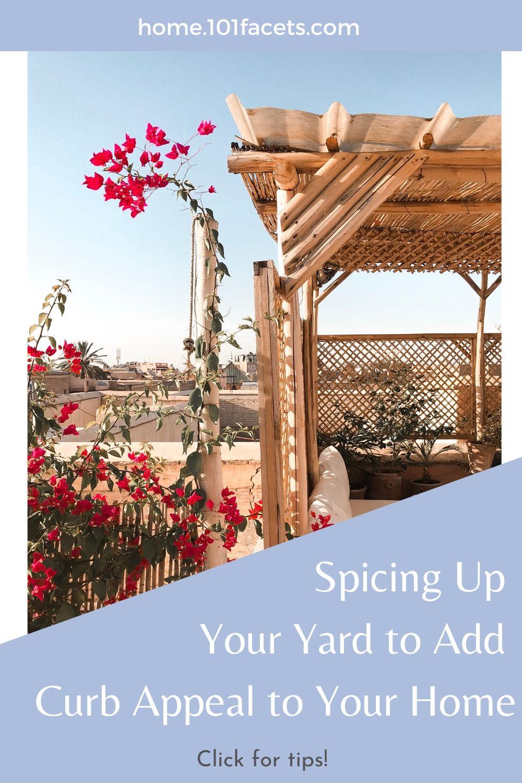 yard, pergola, flowers