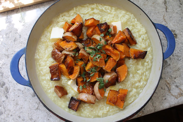 Food Lust People Love: Any risotto is a bowl of comfort food, but this roasted butternut bacon feta risotto takes a simply rice dish up several notches. You can stir the bacon through the dish or simply use it as a generous topping.