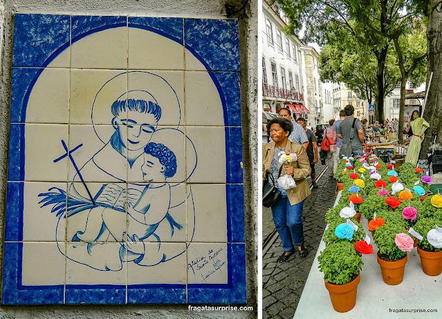 Festa de Santo Antônio em Lisboa, cravos e manjericos