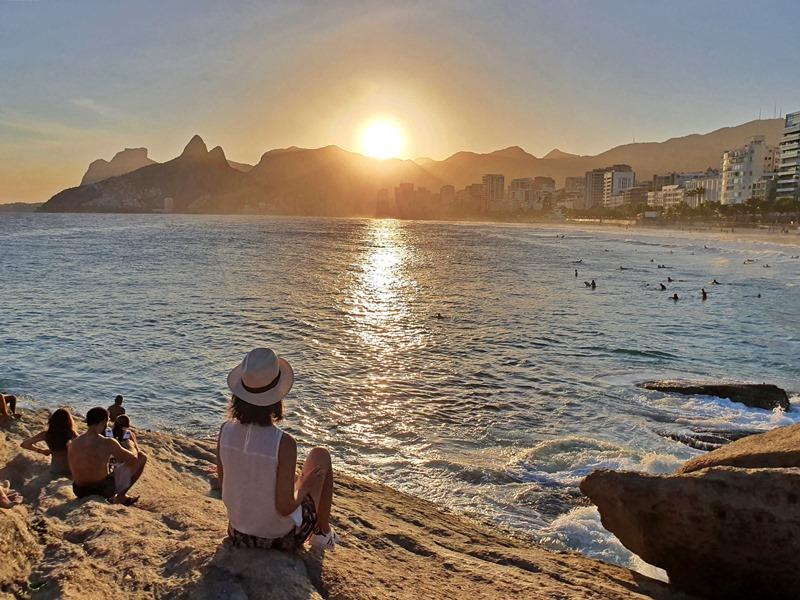 Pôr do Sol no Arpoador Rio de Janeiro