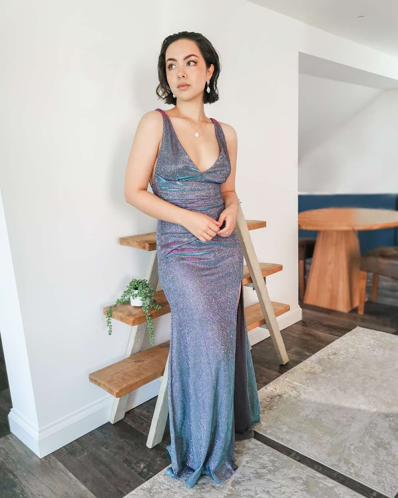 Goddiva Metallic Maxi Dress