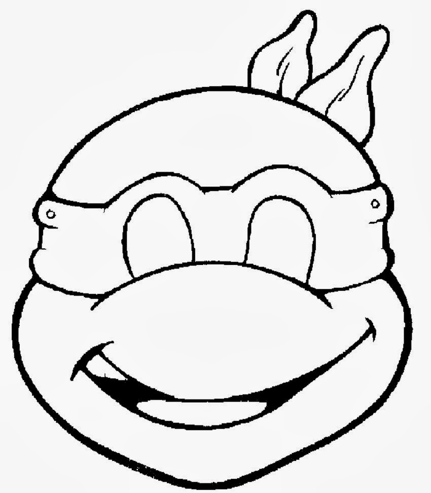 Disney Coloring Face Masks Coloring Pages