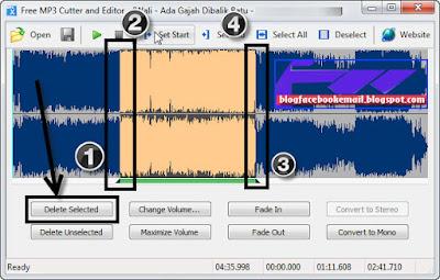 cara memotong atau menghilangkan bagian lagu mp3 dengan mudah