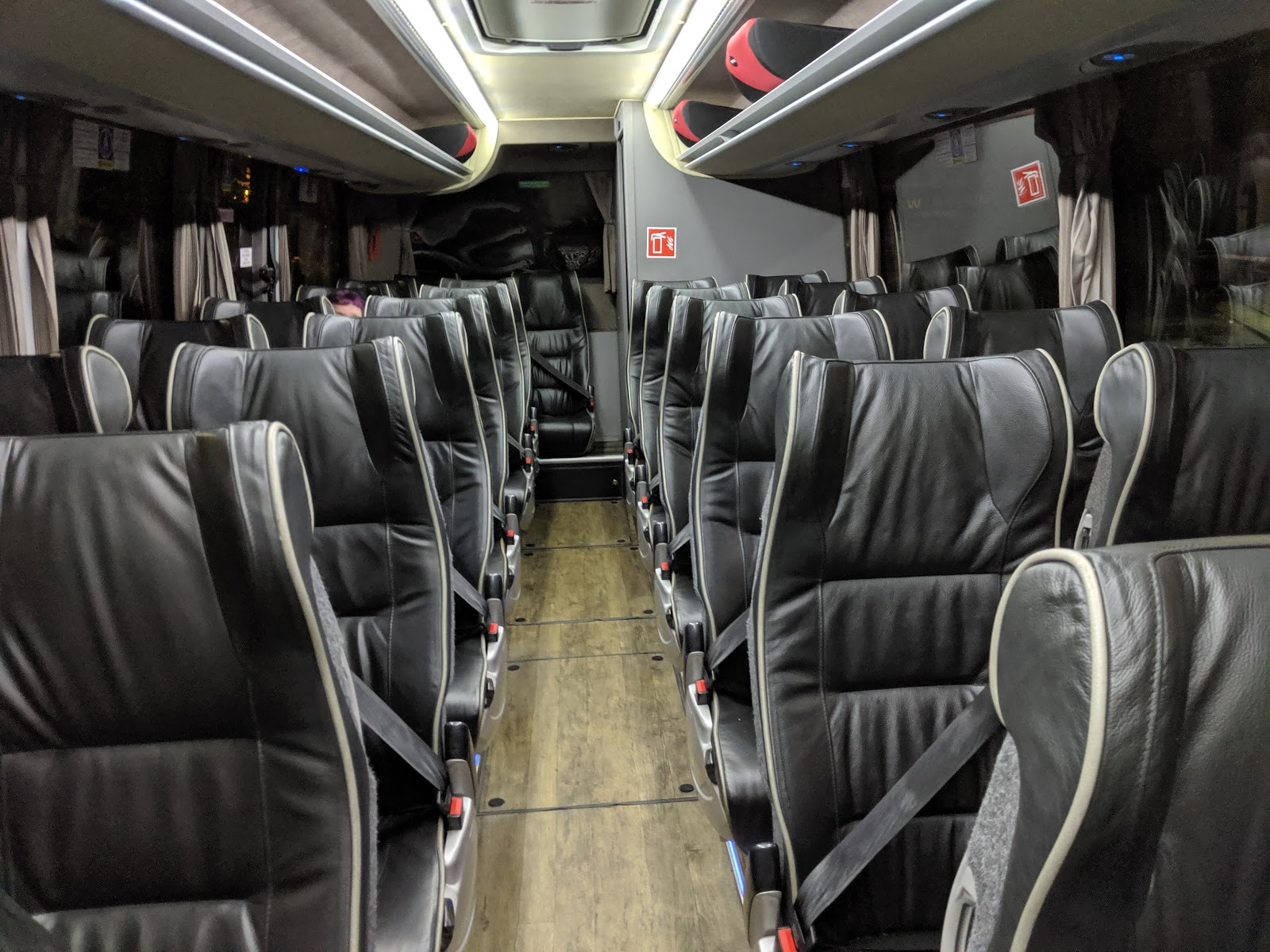 A Guide to Visiting Liverpool Christmas Markets & Lights   inside a national express coach