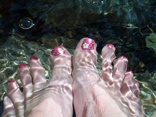 Pies en agua fría