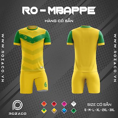 Áo Không Logo Rozaco RO-MBAPPE Màu Vàng