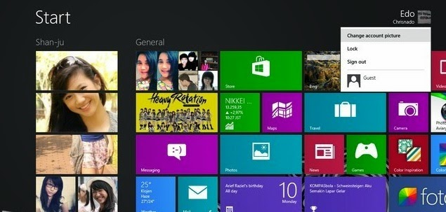 Tips Mengganti Foto Akun Profile pada Windows 8