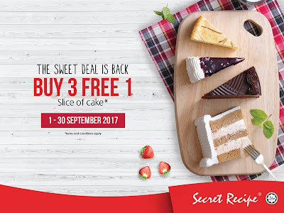 Secret Recipe Malaysia Buy 3 Free 1 Cake