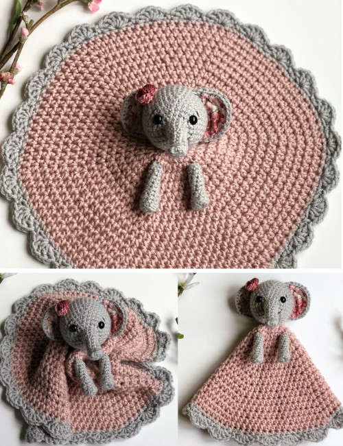 Ellie the Elephant Lovey - Free Pattern
