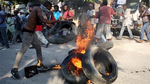 Protests erupt in Haiti against presidential election results