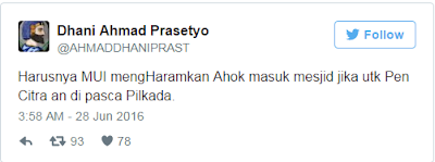 BANDAR RESMI SBOBET - Ahmad Dhani Minta MUI Haramkan Ahok