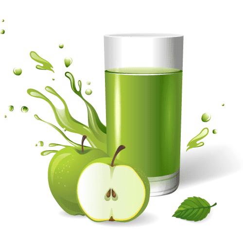 Zumo de manzana - Vector