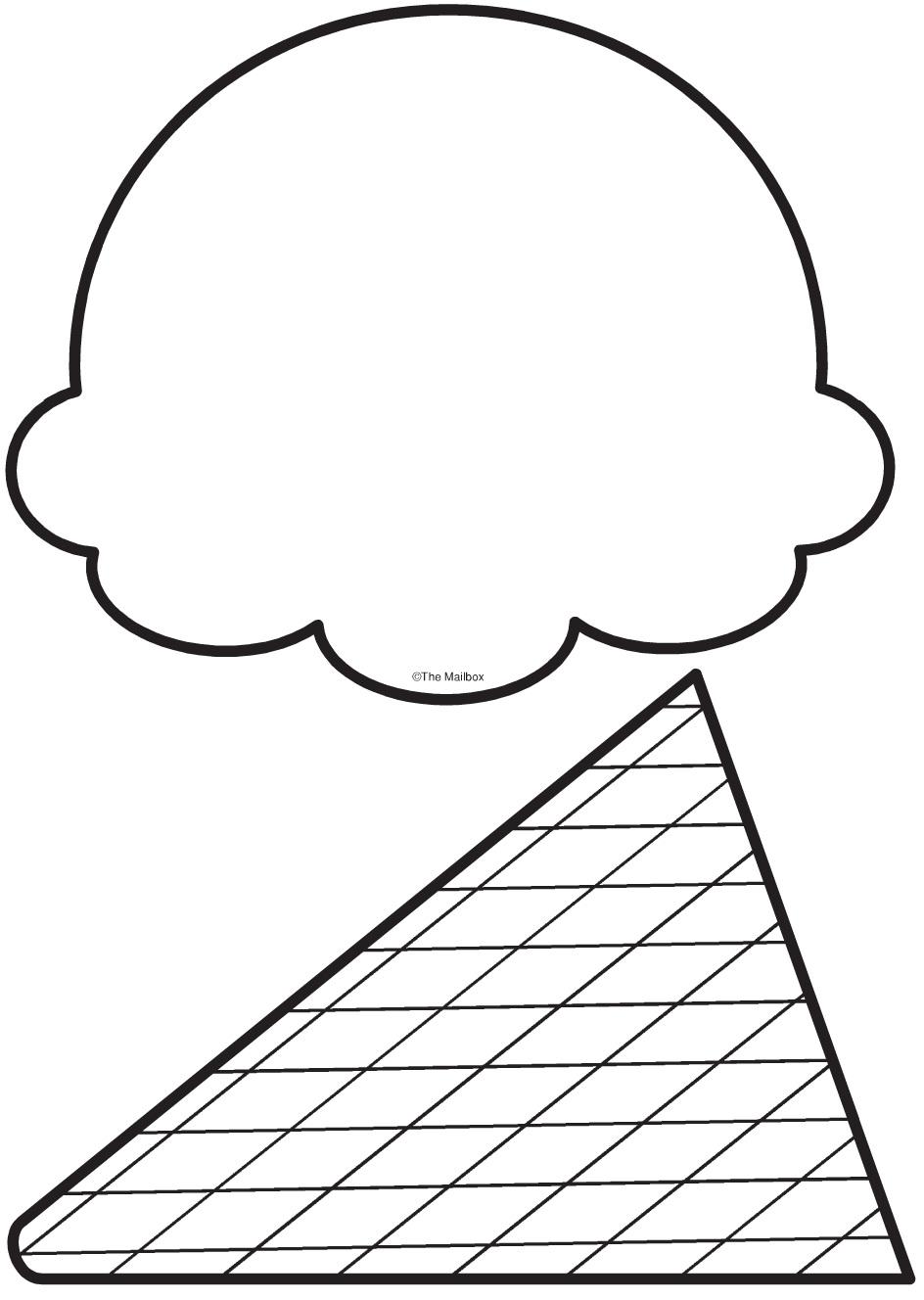 Dibujo De Cucurucho De Helado Para Colorear Dibujos Net