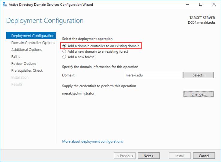 تثبيت Active Directory باستخدام التثبيت من الوسائط (IFM)