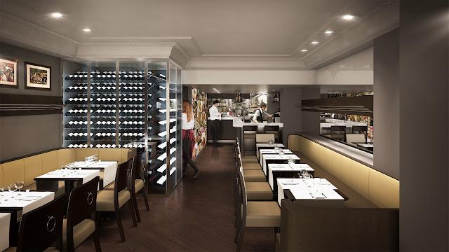 Perspective 3D du restaurant - permis de construire