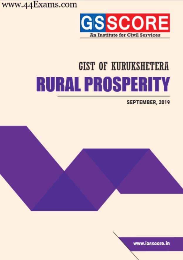 Gist-of-Kurukshetra-Rural-Prosperity-September-2019-by-GS-SCORE-For-UPSC-Exam-PDF-Book