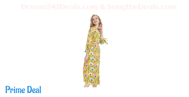 70% OFF Basic Model Women's Floral Flowy Dress