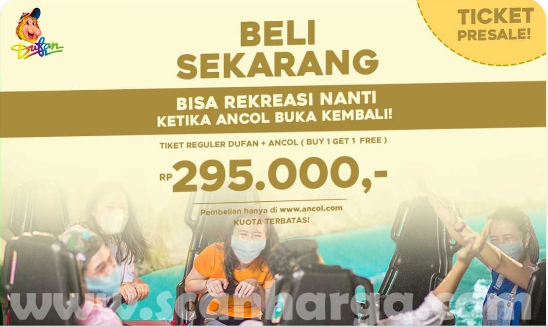 DUFAN Promo BUY 1 GET 1 FREE untuk tiket Dufan Reguler + Ancol