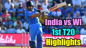 India vs WI 1st T20 highlights 2019