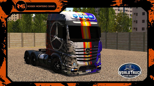 SKINS WTDS, SKINS, SKINS WORLD TRUCK, ACTROS QUALIFICADO, NEW ACTROS, ACTROS LIMITED EDITION