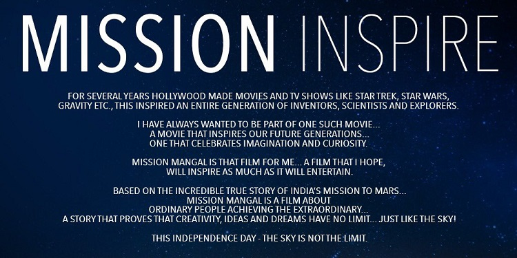 Akshay Kumar confirms Mission Mangal releases 15th August, 2019