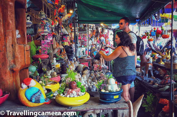 There are lot of interesting shops in Chatuchak Weekend Market and it doesn't really matter if you want to do shopping or not. The market itself is an interesting place to explore & get exposed some really interesting Thai art & craft stuff.     Related Blog-post : Doi Suthep - Best place in Chiang Mai to explore Thai Temple, Aerial views of the City and some Hiking