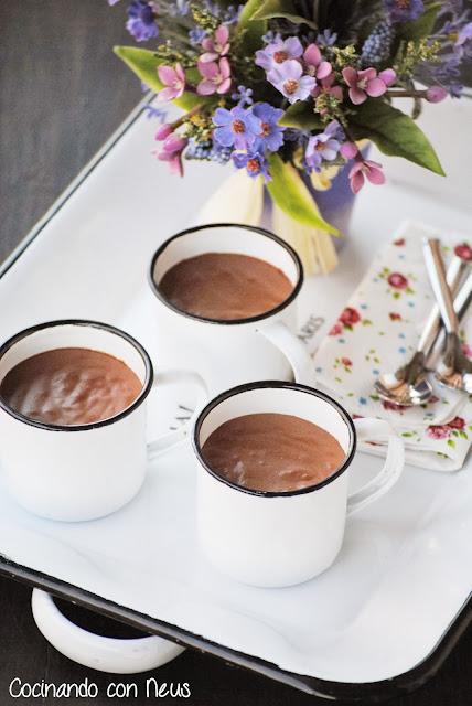 Pudding de crema de speculoos con chocolate