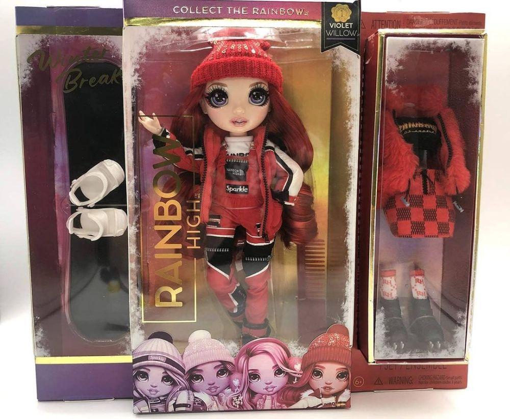 Красная кукла Рейнбоу Хай зимние каникулы Ruby Anderson