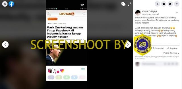 Cek Fakta: Mark Zuckerberg Ancam Tutup Facebook di Indonesia