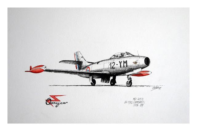 MD450, Ouragan, Encre, aquarelle