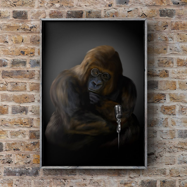 gorilla art, fun art, mark taylor, fine art america,