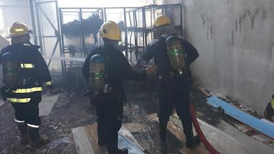 حريق يأتي على مخزن شركة في البصرة