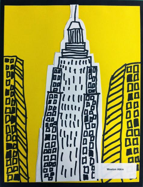 Child Artist Kindergarten- Empire State Building