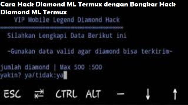 Cara Hack Diamond ML Menggunakan Termux