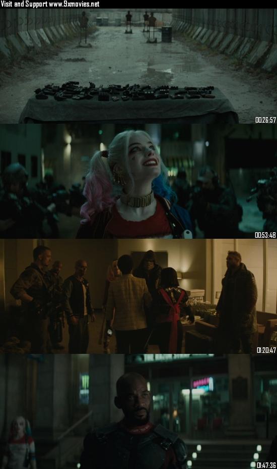 Suicide Squad 2016 BRRip 720p 480p English Full Movie Download