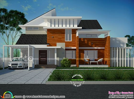 2489 square feet 4 bedroom modern house plan
