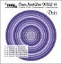 Set van 12 stansen om cirkels met stippen te maken. Set of 12 dies to make circles with dots.