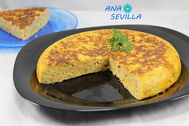 Tortilla de coliflor Ana Sevilla con Thermomix