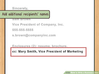 formal business letter format