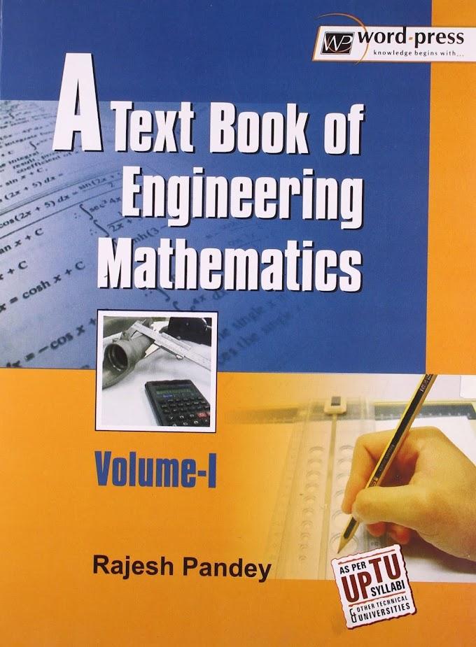 [PDF] A Textbook of Engineering Mathematics Volume-I By Rajesh Pandey