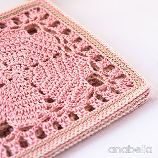 Japanese crochet square coasters