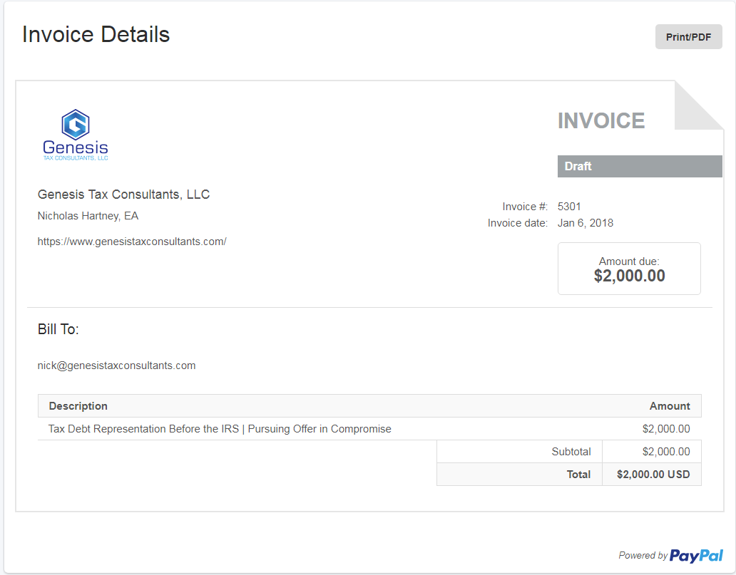 Secure Payment Invoice Through Paypal