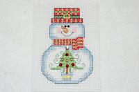 сніговик вишивка хрестиком