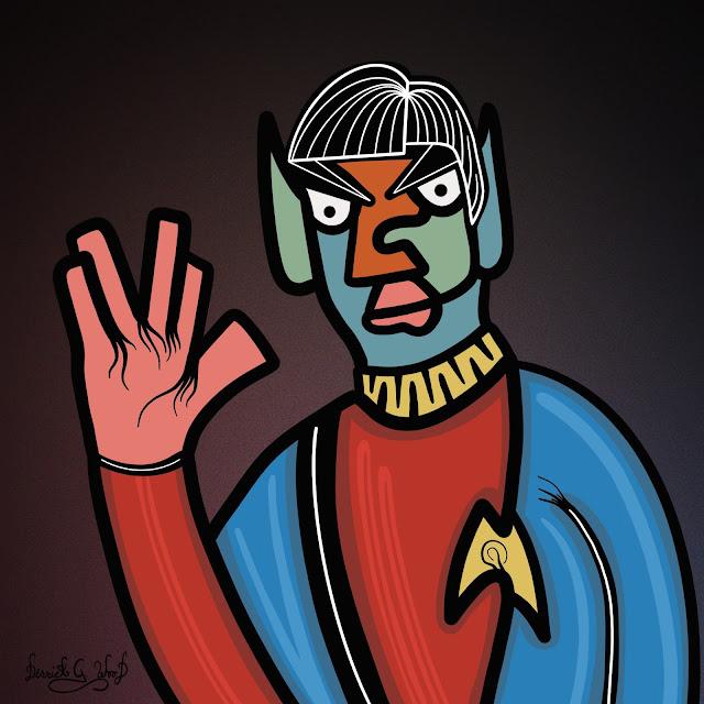 spock star trek fan art weird cubism cubist