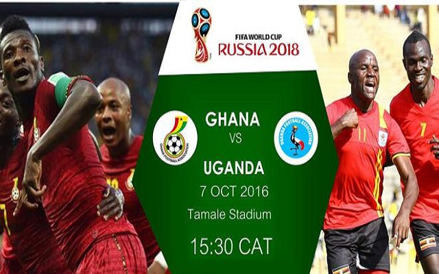 Ghana vs Uganda Live Streaming TV Online - 2018 FIFA World Cup Qualifiers