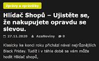 AzaNoviny -  Hlídač Shopů – Ujistěte se, že nakupujete opravdu se slevou.