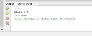 Contoh percabangan switch case menggunakan kondisi karakter/String